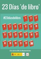 Cartel Día Mundial del Libro y del Derecho de Autor 23 Días de libro - 2016 - España - Observatorio de la Lectura y el Libro