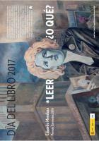Cartel Día Mundial del Libro y del Derecho de Autor - 2017 - España - Observatorio de la Lectura y el Libro